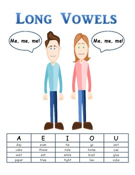 Long & Short Vowel Sounds Posters w/Story