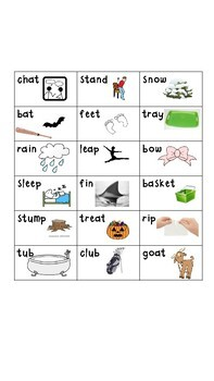 Long/Short Vowel Word Sort with Digraphs