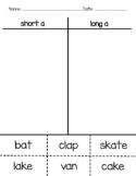 Long/Short Vowel Word Sorts (CVC & CVCE)