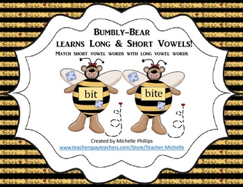 Long & Short Vowels - Bumbly-Bear Learns Long & Short Vowels!
