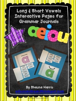 Long & Short Vowels Interactive Journal Pages