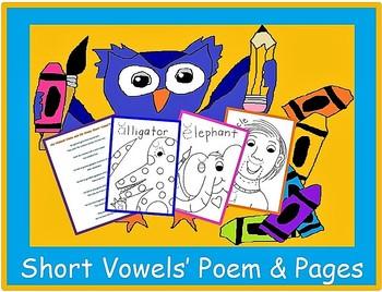 Long & Short Vowels' Poems & Pages
