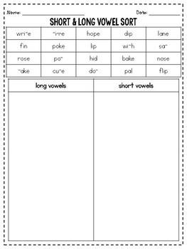 Long & Short Vowels - Phonics Practice & Review