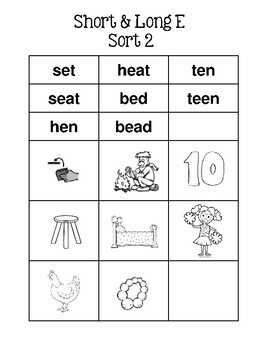 Long & Short Vowels Spelling Sort Cards - Multiple - Similar to Words Their Way