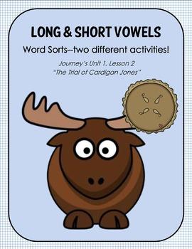 "Long & Short Vowels--TWO Word Sort Activities for ""The Trial of Cardigan Jones"""