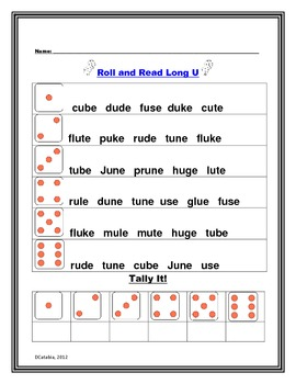 Long, Short, and Mixed Vowel Roll and Read