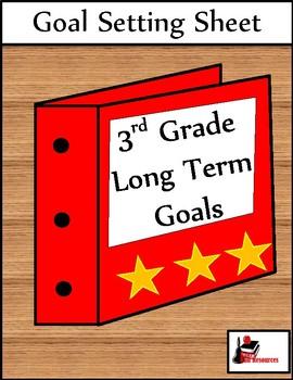 Long Term Goal Setting Sheet for 3rd Grade