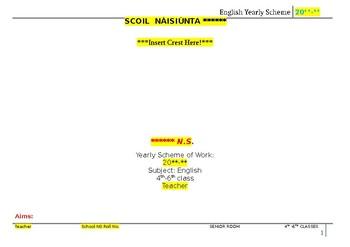 Long Term Plan for Multigrade Senior Room- English