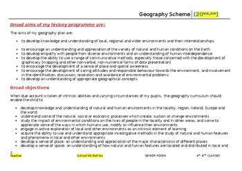 Long Term Plan for Multigrade Senior Room- Geography