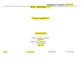 Long Term Plan for Multigrade Senior Room- Geography