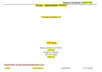 Long Term Plan for Multigrade Senior Room- History