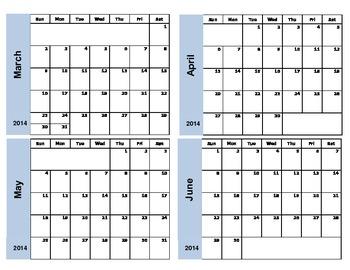Long-Term Planning Calendar July 2015 - June 2016