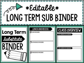 Long Term Sub Binder EDITABLE