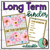 Long-Term Sub Binder - Maternity Leave - Extended Leave - Multiple Covers