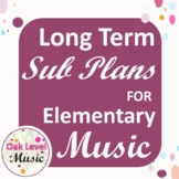 Long Term Sub Plans For The Elementary Music Classroom