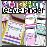 Long Term Sub/Maternity Leave Survival Notebook/Binder- EDITABLE!