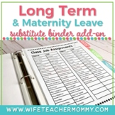 Long Term Substitute Binder (or Maternity Leave Sub) & Pla