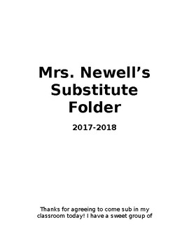 Long-Term Substitute Folder