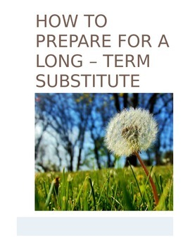 Long-Term Substitute: How-To Guide for Teachers