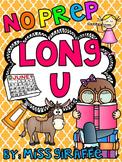 Long U Worksheets and Activities {NO PREP!} (Long Vowels Worksheets)