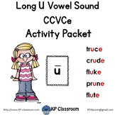 Long U CCVCe Vowel Sound Activity Packet and Worksheets