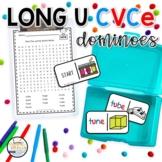 Long U CVCe Domino Phonics Activity for Literacy Centers