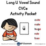 Long U CVCe Vowel Sound Activity Packet and Worksheets