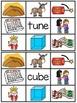 Long U Silent E Clip Cards Center Activities