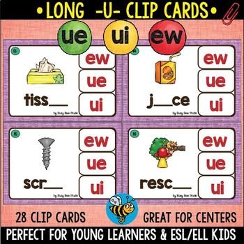 Long U Clip Cards (ew, ue, ui)