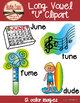 Long U Clipart - Color & BW