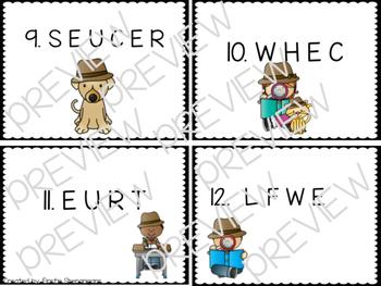 Long U (EW and UE) Word Work