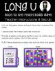 Long U File Folder Games and Activities