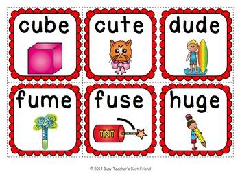 Long U Flashcard Game - CVCe Words
