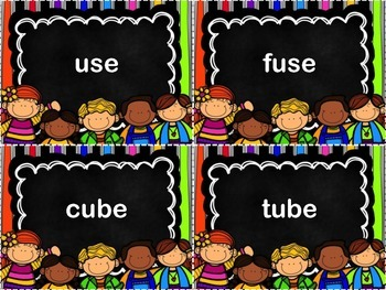 Vowel Time- Long U Flashcards