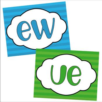 Long U Flashcards - ue / ew