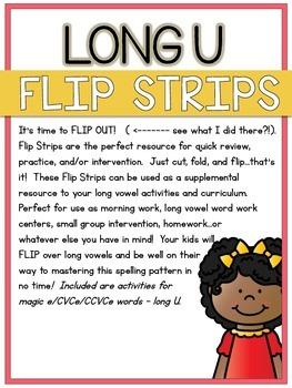 Long U Flip Strips - 6 Magic E/CVCe/CCVCe Cut, Fold, & Flip Activities