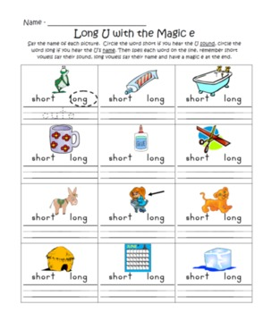 Long U Magic E Activities