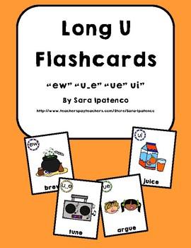 Long U Phonics Flashcards Bundle