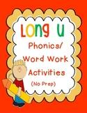Long U Phonics/Word Work Activities {u-e, ue, oo, ew, ui}