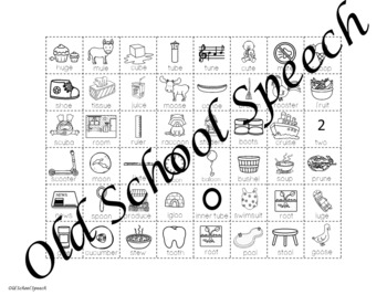 Long U Picture Cards for Articulation