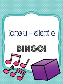 Long U - Silent E Bingo [10 playing cards]