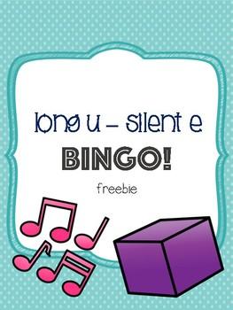 Long U - Silent E Bingo Freebie [5 playing cards]