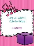 Long U - Silent E Color-by-Picture