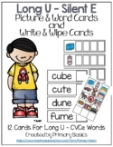 Long U Silent E Picture & Word Cards and Write & Wipe Cards