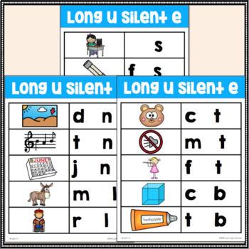 Long U Silent E Word Family Center