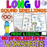 Long U Vowel Teams Practice Worksheets