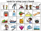 Long U Sounds Word List - Writing Center