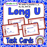 Long U Task Cards: 36 cards to practice u_e, oo, ew, and ue