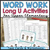 Phonics for Older Students - Long U Task Cards