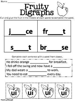 Long U Vowel Digraphs - oo, ew, ui